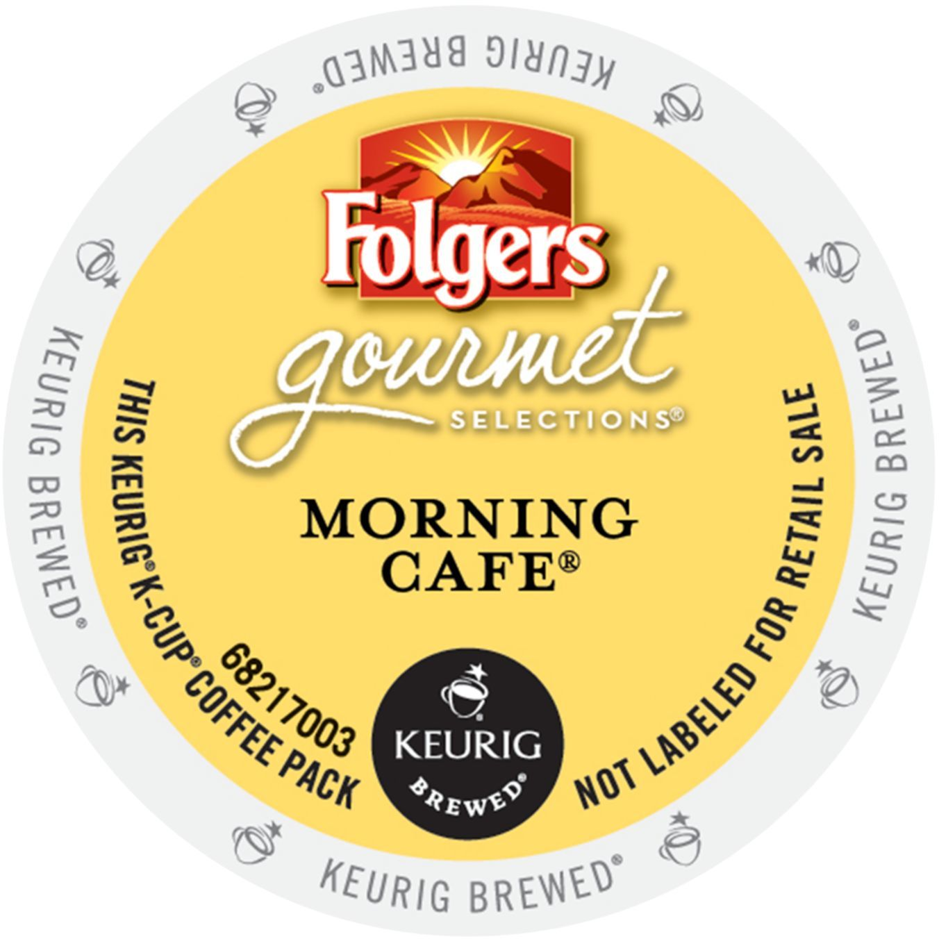 Folgers Gourmet Selections Morning Cafe Coffee, K-Cup Portion Pack for Keurig Brewers (96 Count) (4x16oz)