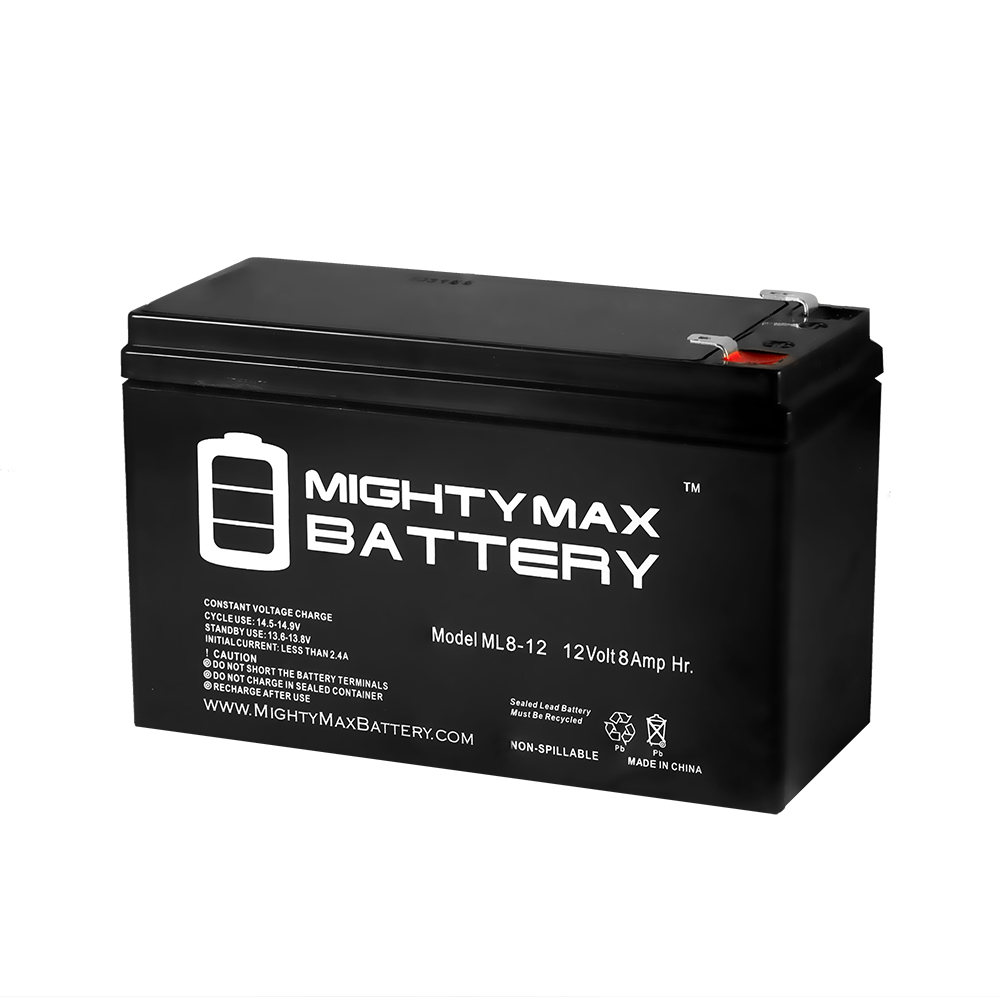 12V 8Ah SLA Battery Replaces Future 250 Electric Skateboard by Mighty Max Battery