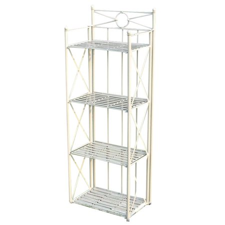 "Pemberly Row 22"" 4 Tier Iron Bakers Rack in White"
