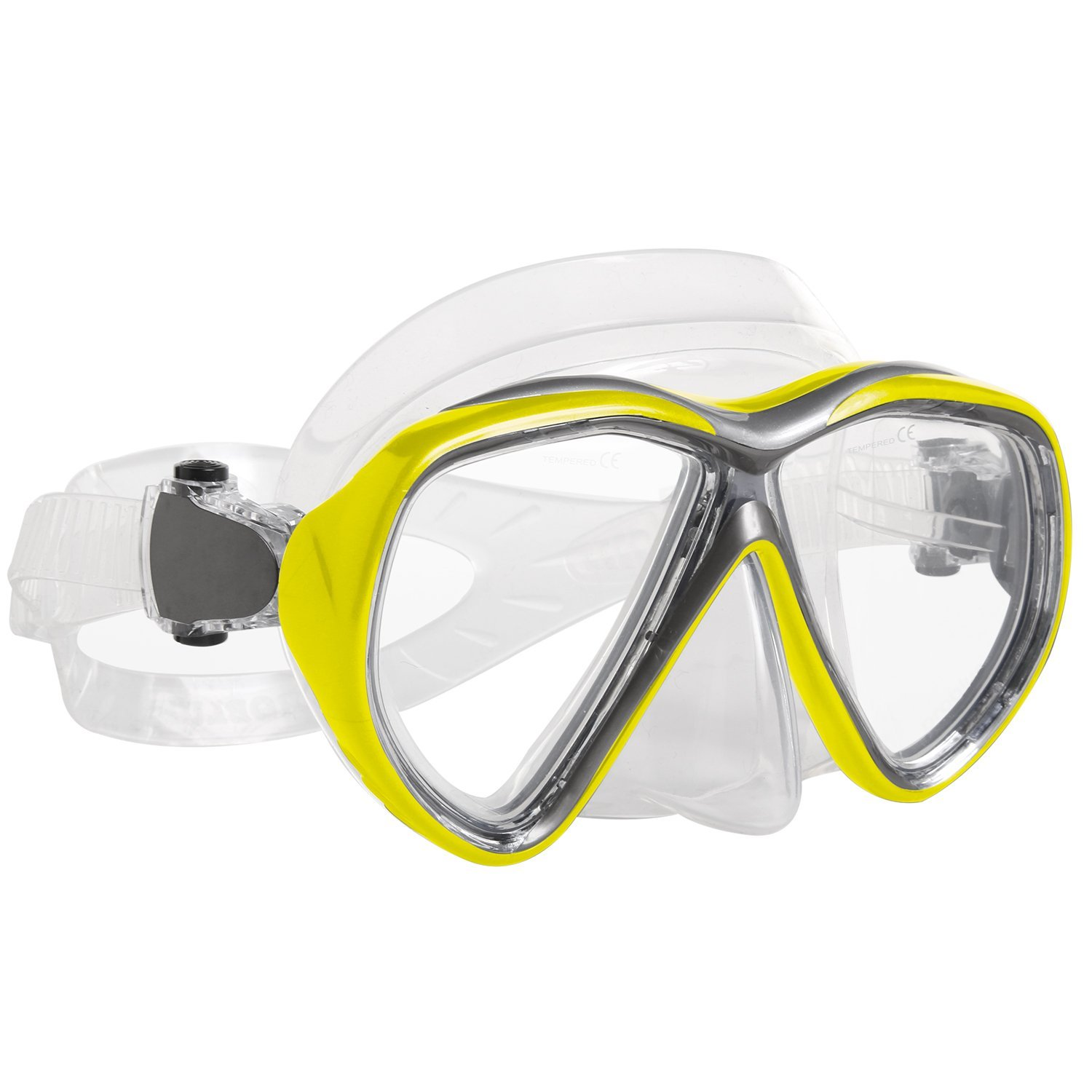 Snorkel Mask Mask Snorkel Double Lens diving mask Perfect for Scuba Diving, Snorkeling, Swimming Ivation by Ivation