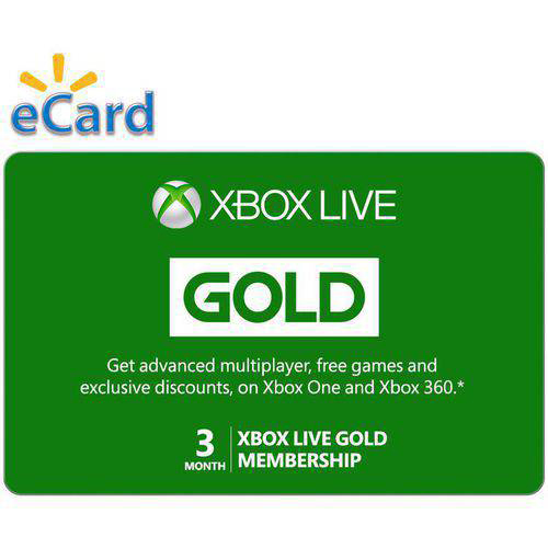3 Month Xbox Live Gold Membership (Email Delivery)