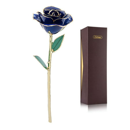 Scented Long Stem (Yosoo Gold Rose for Women, Love Forever Long Stem Dipped 24k Foil Trim Rose, Best Gift for Valentine's/Mother's/Anniversary/Birthday Day)