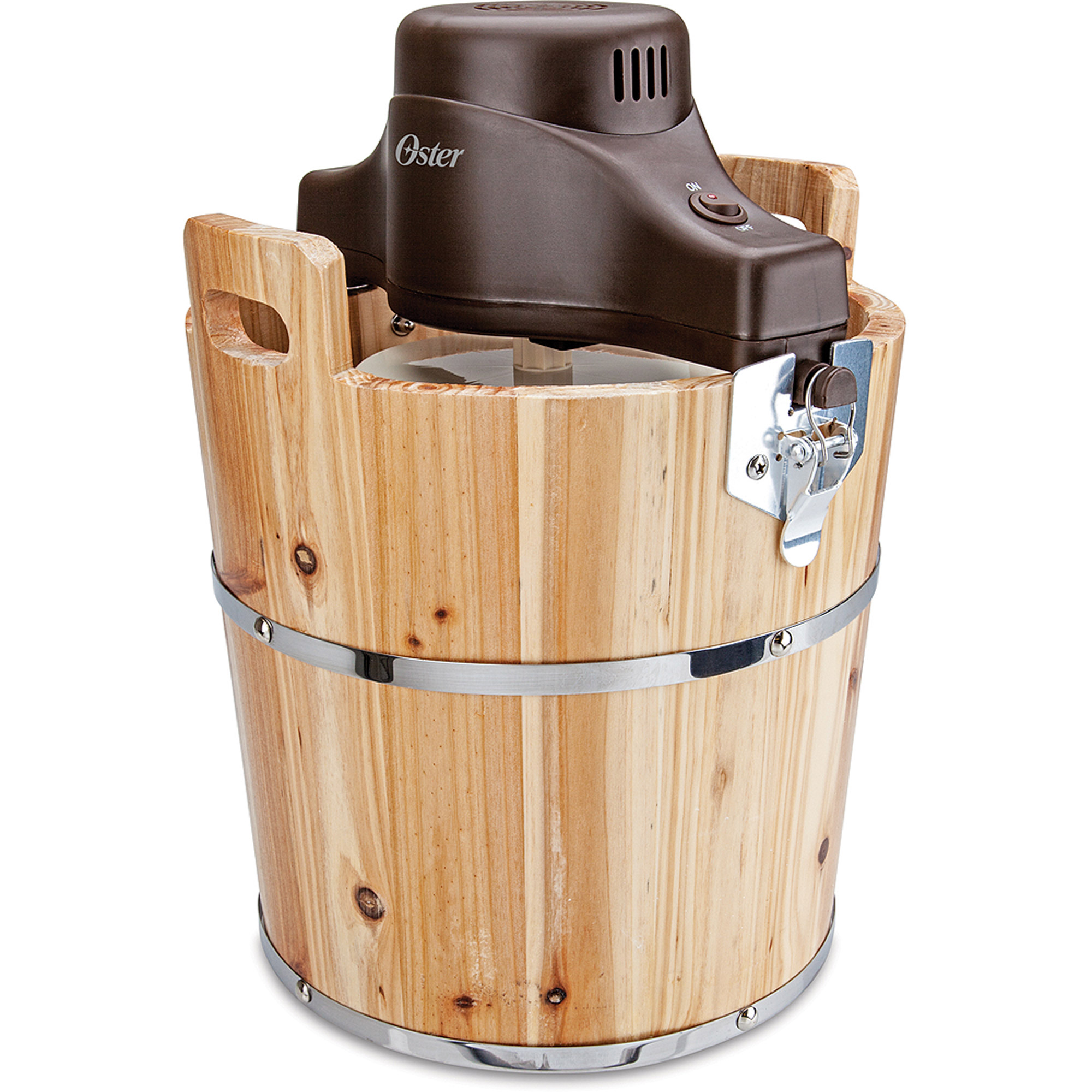 Oster 4-Quart Wood Bucket Ice Cream Maker, FRSTIC-WDB-001