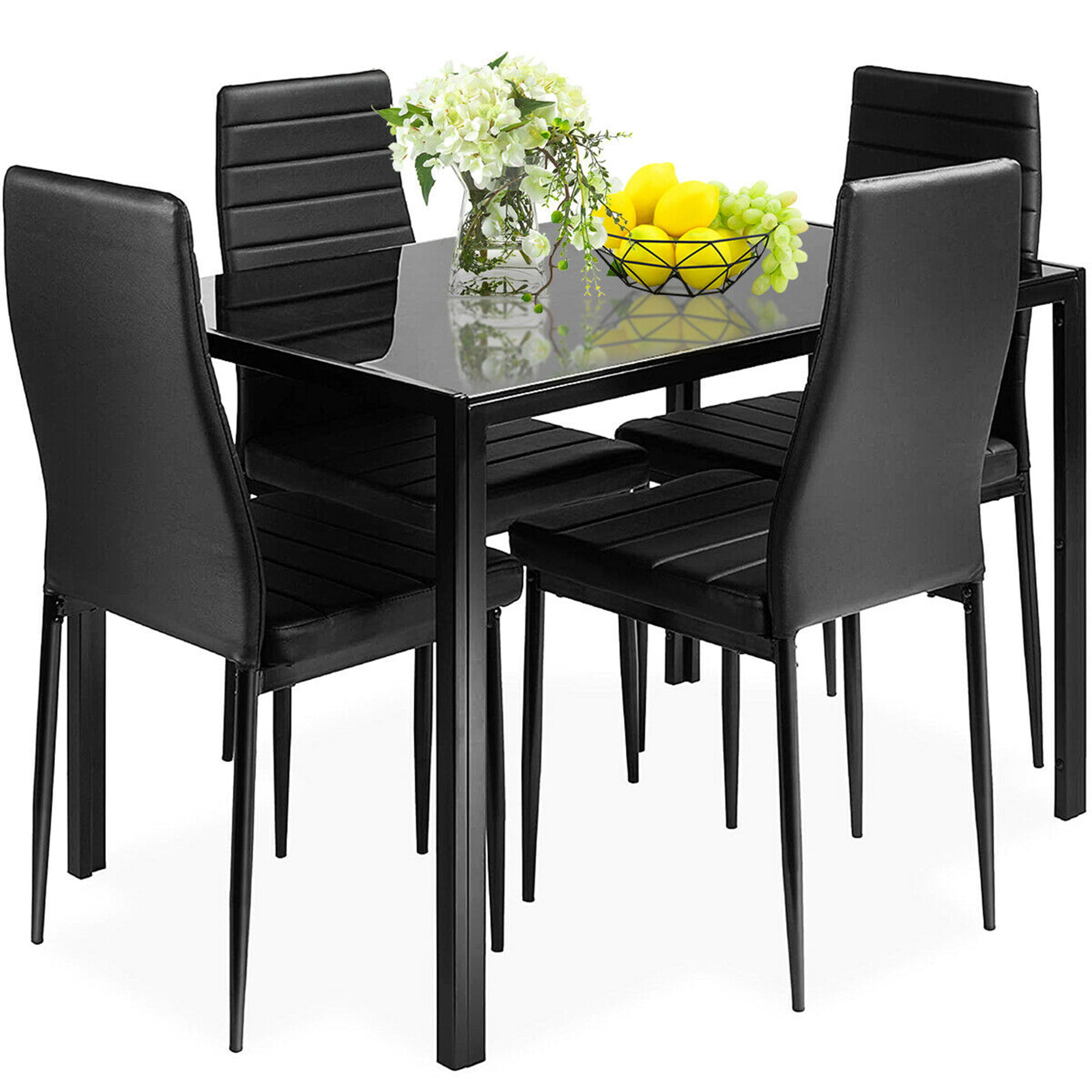 Gymax 5 Pieces Table Chair Kitchen, High Quality Dining Room Sets