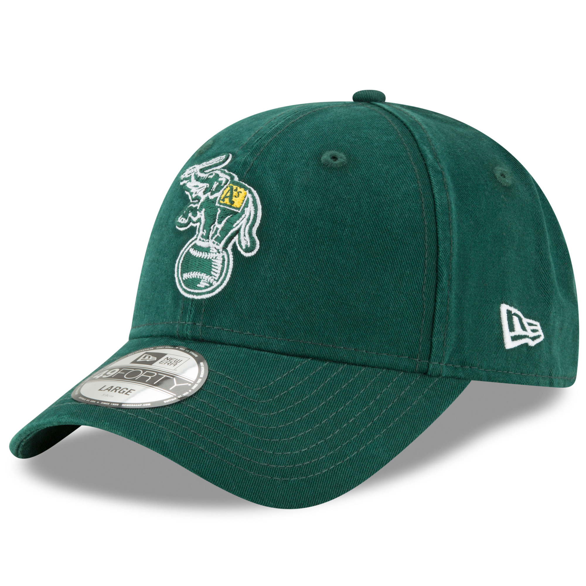 Oakland Athletics New Era Cooperstown Collection Core Fit 49FORTY Fitted Hat - Green