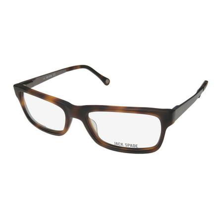 New Jack Spade Cameron Mens/Womens Designer Full-Rim Matte Blonde Tortoise Authentic Contemporary Spectacular Frame Demo Lenses 53-17-140 Flexible Hinges Eyeglasses/Eyewear