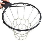 SANWOOD Basketball Net Outdoor Sport Galvanized Iron Anti-rust Basketball Shoots Hoop Rim Net Chain