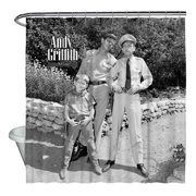 Andy Griffith Lawmen Shower Curtain White 71X74