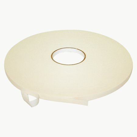 JVCC DC-PEF03A Double Coated Polyethylene Foam Tape: 1/32 in. thick x 1/2 in. x 72 yds. (White)