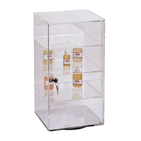 3-Shelf Acrylic Rotating Tower Display Case Box (Comes with lock & key)