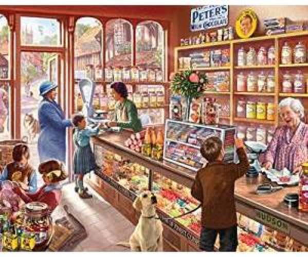 White Mountain Puzzles Old Candy Shop 1000 Piece Jigsaw Puzzle by White Mountain Puzzles
