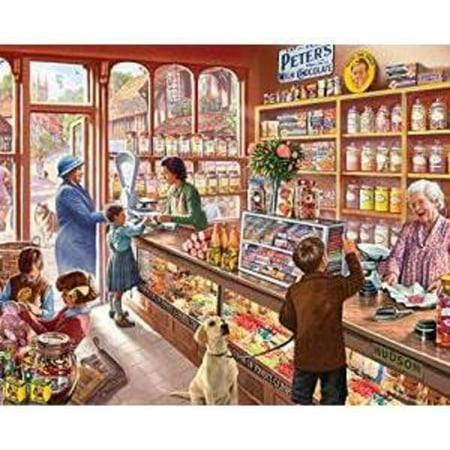 Dog Family Jigsaw Puzzle (White Mountain Puzzles Old Candy Shop - 1000 Piece Jigsaw Puzzle)