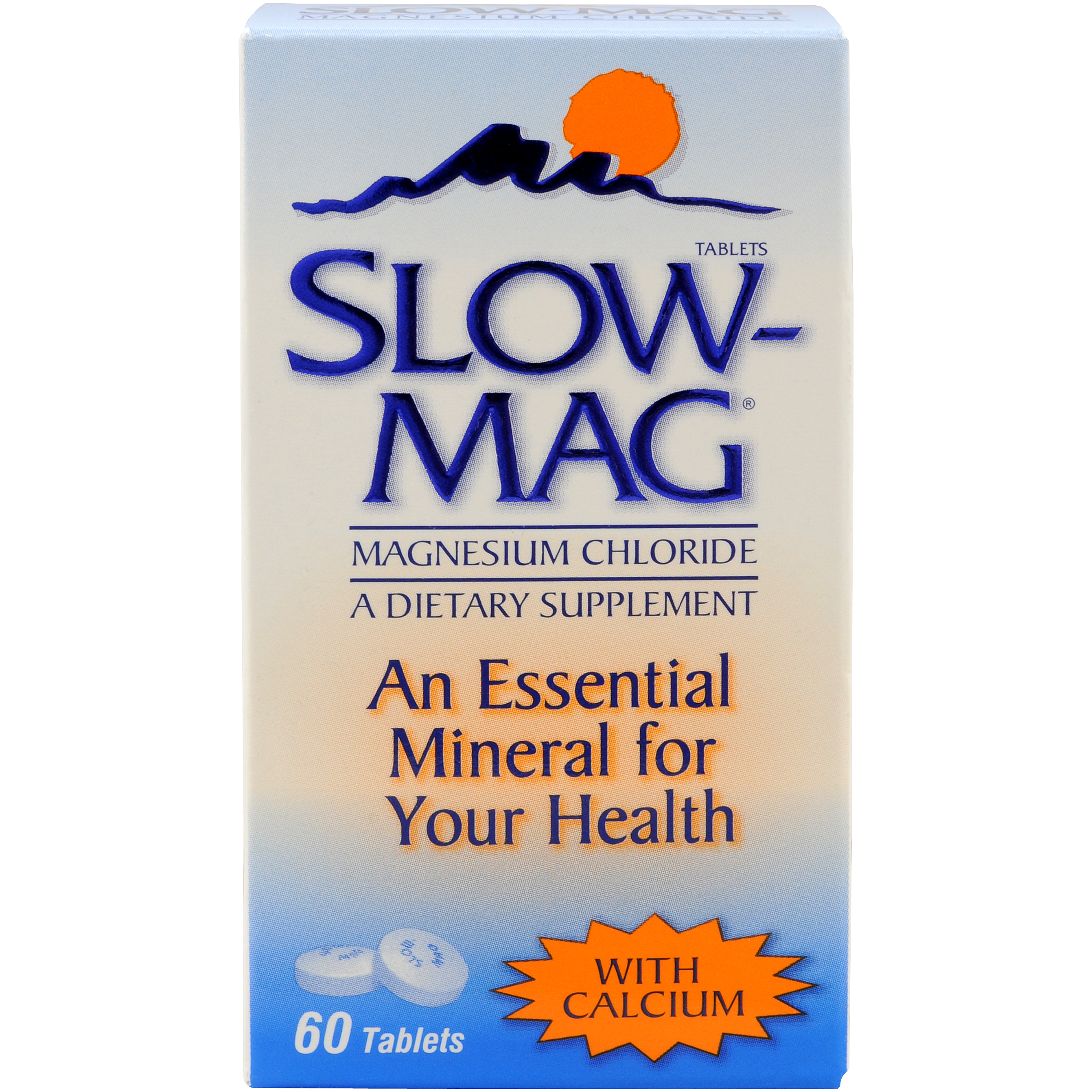 Slow-Mag Magnesium Chloride with Calcium Tablets, 60 ct
