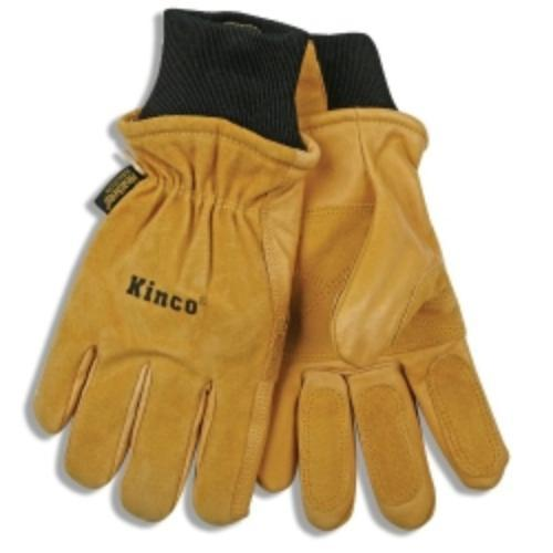 Kinco 901M Ski Gloves, Pigskin Leather, Reinforced Palm And Fingers, Heatkeep Thermal Lining, Medium