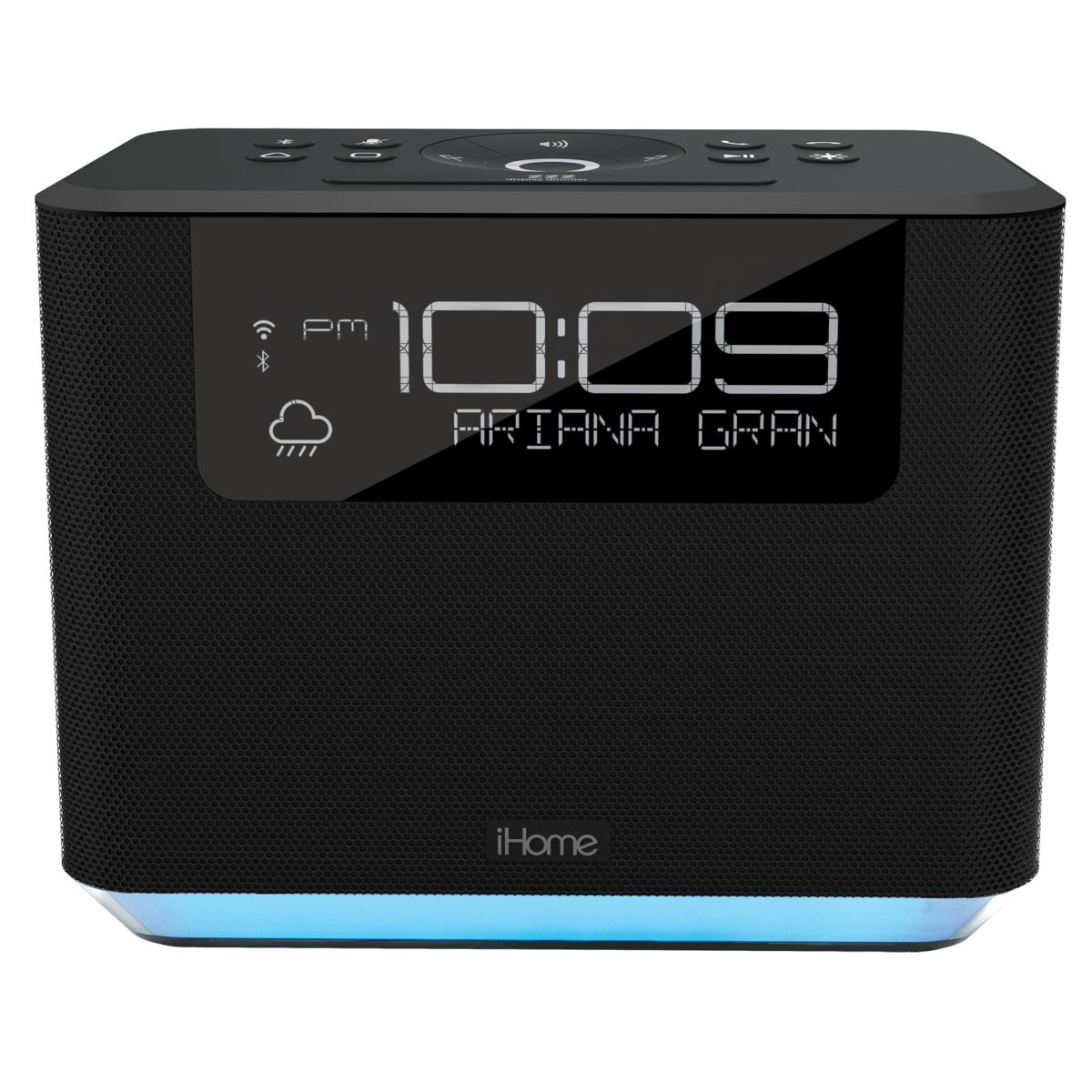 iHome iAVS16 Bedside Clock System Featuring Far Field Alexa Voice Service with Bluetooth and USB Charging