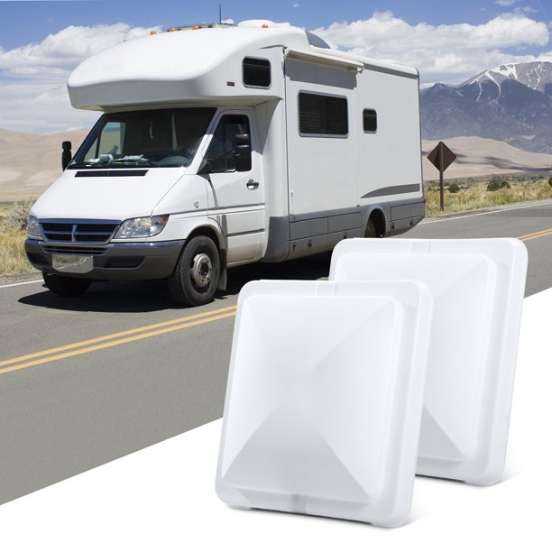 2 Packs 14 X 14 Universal Replacement Rv Roof Vent Cover White Vent Lid For Camper Trailer Motorhome Walmart Com Walmart Com