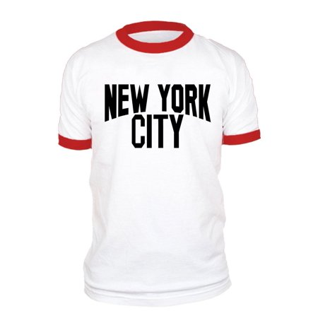 City Shirts (NEW YORK CITY lennon photo nyc retro - Cotton RINGER)