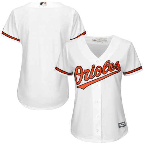 Baltimore Orioles Majestic Women's Cool Base Jersey White by MAJESTIC LSG