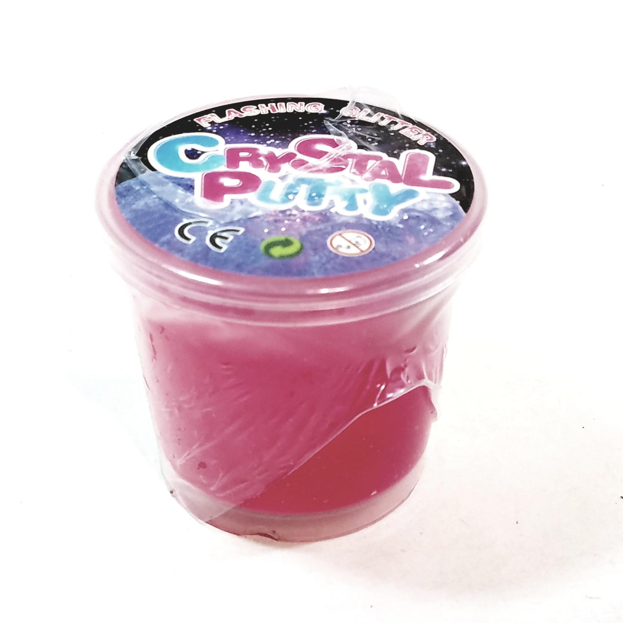 Flashing Glitter Crystal Putty Pink Glitter Slime With Flashing Light 100g In 3.5 oz Container Of Goop