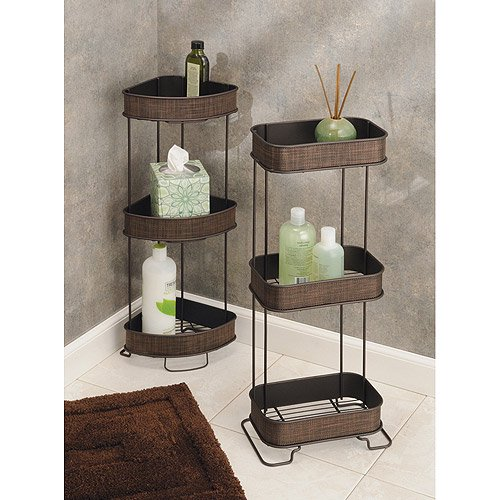 Interdesign Twillo Free Standing Bathroom Corner Storage Shelves For Towels Soap Candles
