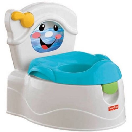 """Fisher-Price Learn to Flush Potty Training Chair with Music, Light and Sounds, Flush"""" for rewarding potty sounds, musical ditties, lights,.., By PnB Deals Ship from US"""
