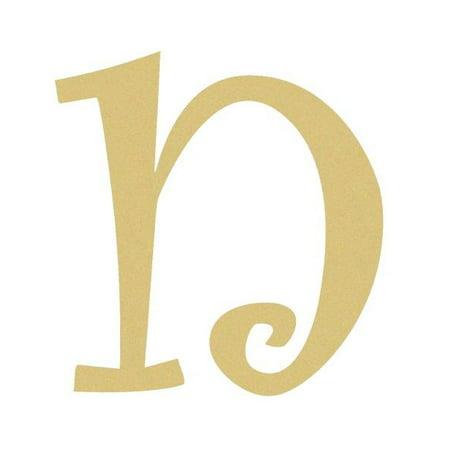 Wood Cursive Letter Lowercase Curlz n 12 Unfinished Paintable Letter