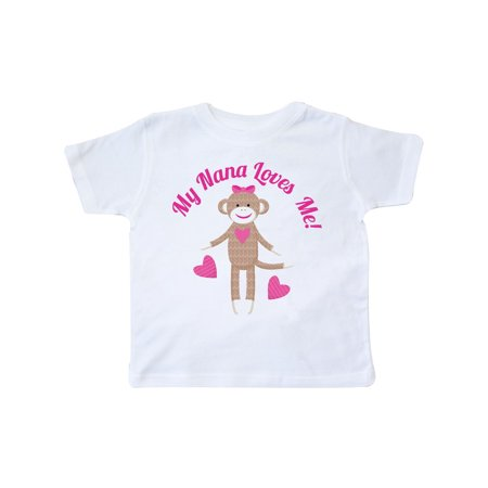 My Nana Loves Me Sock Monkey Toddler T-Shirt (Sock Monkey Infant Clothes)