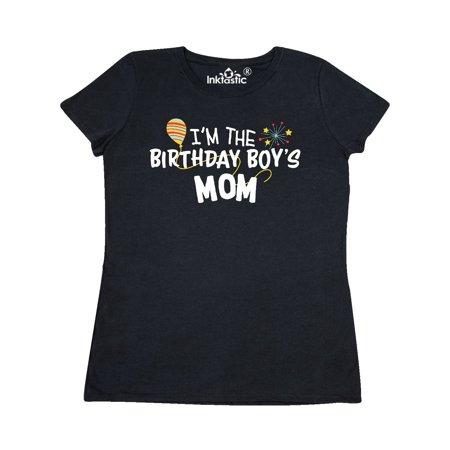 Im The Birthday Boys Mom Womens T Shirt