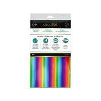 iCraft Deco Foil Transfer 6x12 Rainbow 20pc