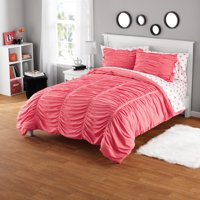 Your Zone Ruched Polyester Microfiber Mini Comforter Set, 1 Each