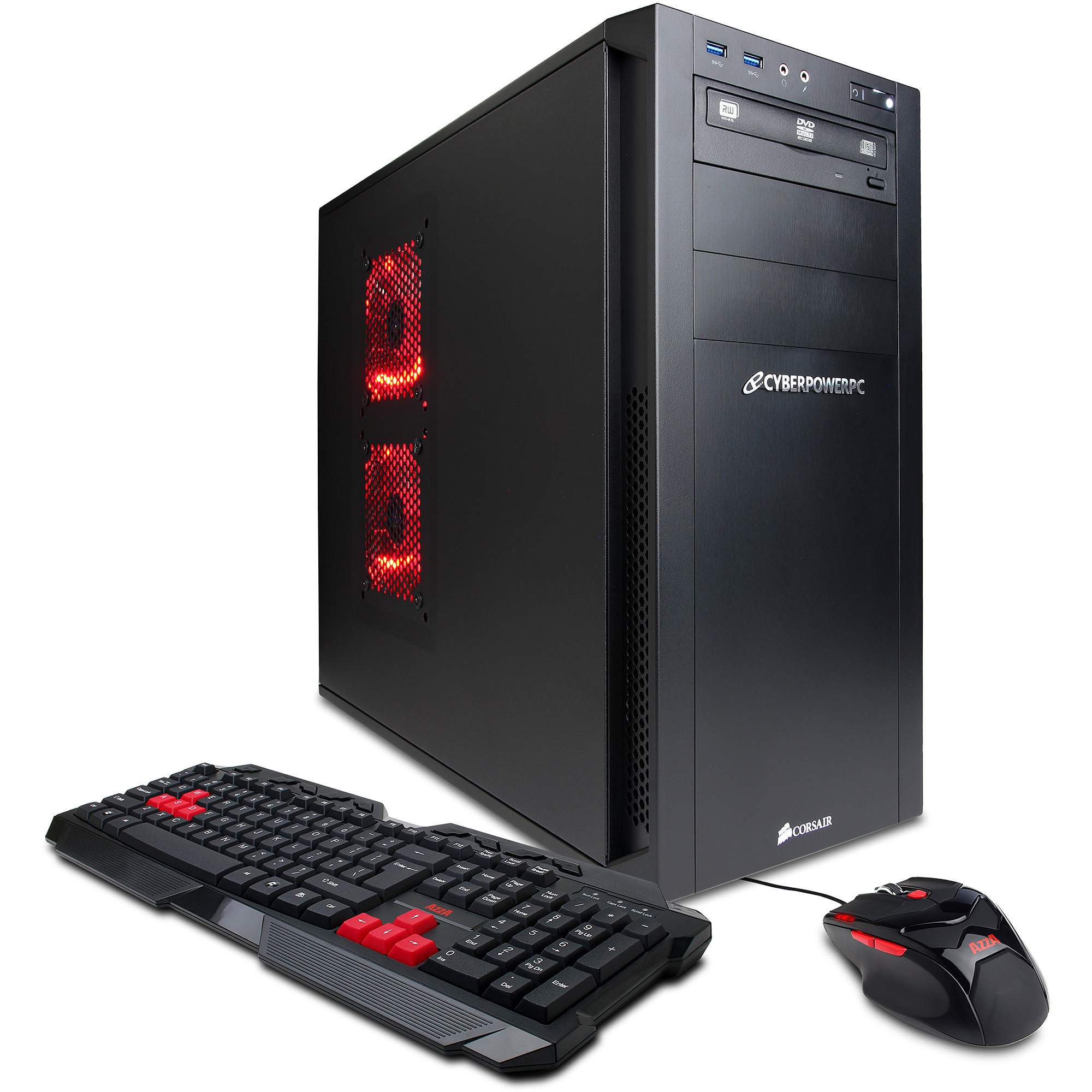 CyberPowerPC Black Gamer Xtreme SRLC200 Desktop PC with Intel Core i5-4670K Processor, 16GB Memory, 2TB Hard Drive and Windows 8 Operating System (Monitor Not Included)