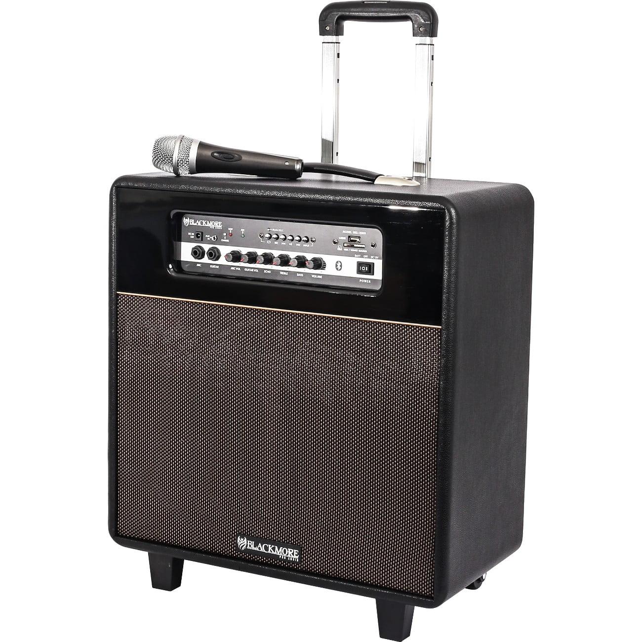Samson BRS-2009 Bluetooth Instrument Amplifier Spkr Rechargeable Mp3 Player Portable