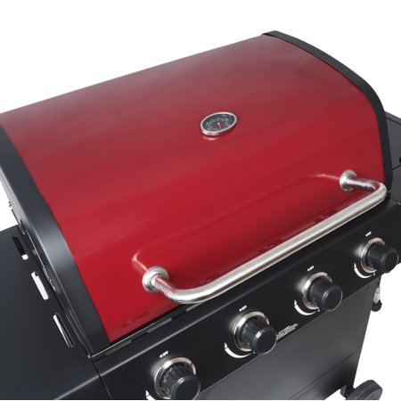 RevoAce 4-Burner Gas Grill with Side Burner, Red Sedona, GBC1748WRS