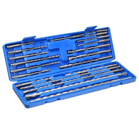 (Yescom 20pcs SDS Plus Rotary Hammer Drill Bits Carbide Tip Concrete Masonry Hole Tool Set)