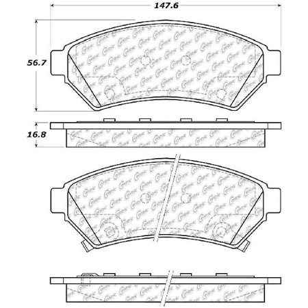 Brake Relay - Go-Parts OE Replacement for 2005-2007 Saturn Relay Front Disc Brake Pad Set for Saturn Relay