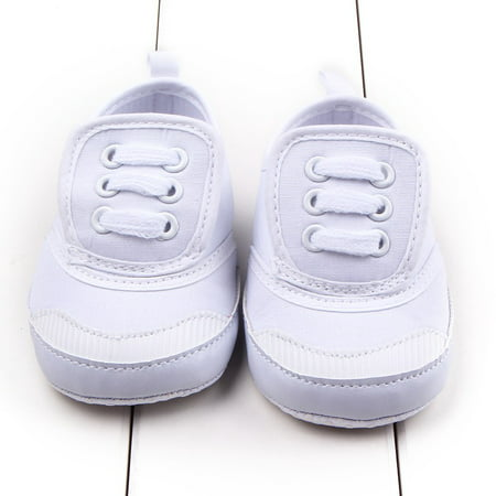 Kacakid 0-12M Infant Baby Warm Shoes First Walkers Boys Girls Soft Sole Canvas Shoes