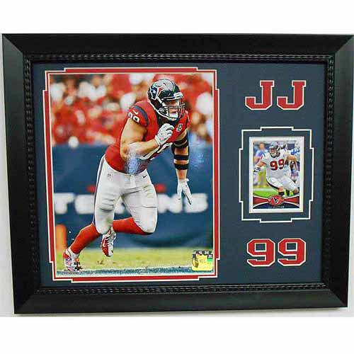 NFL 11x14 Card Frame, JJ Watt Houston Texans