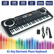 61 Keys Black Digital Music Electronic Keyboard KeyBoard Electric Piano Kids Gift Musical Instrument