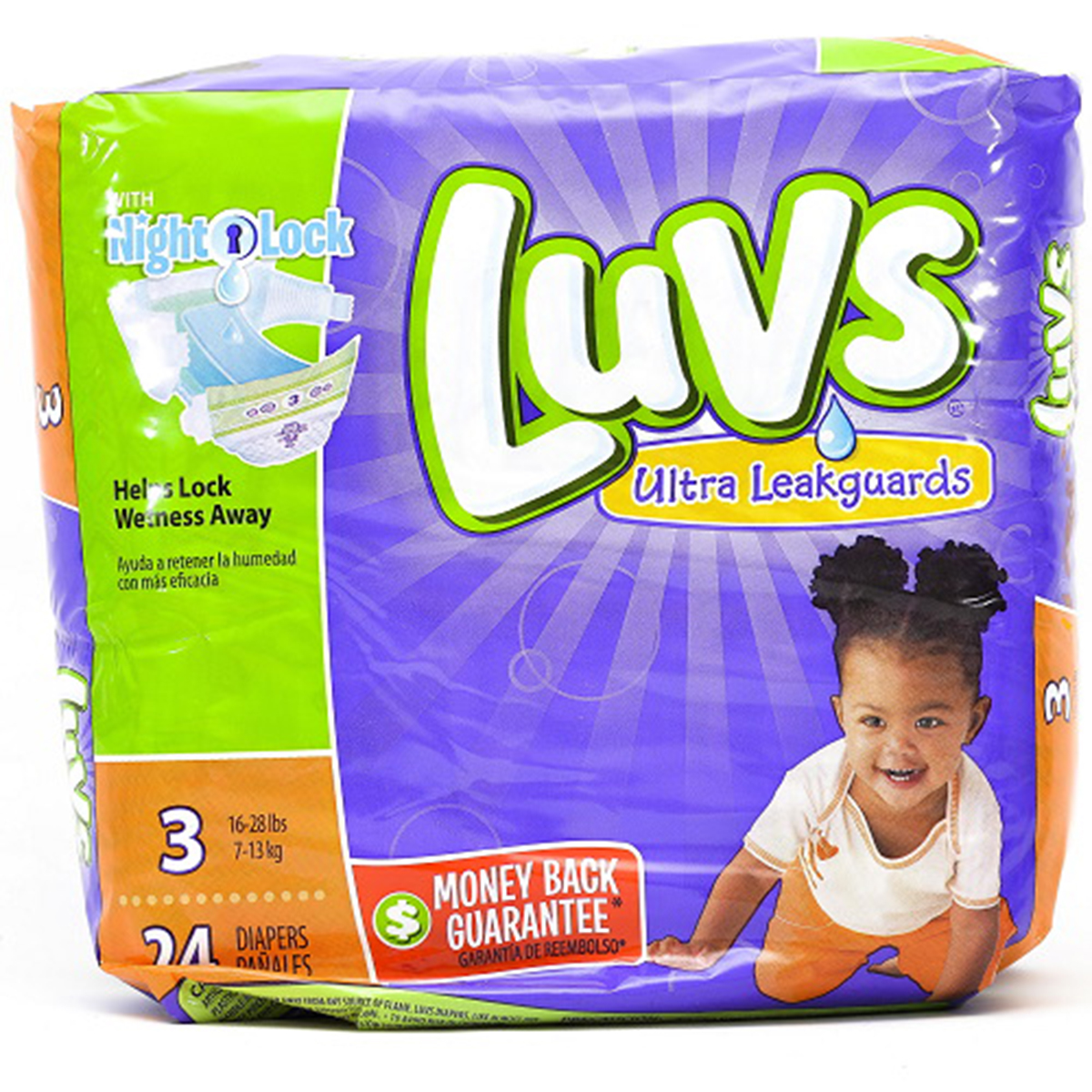 LUVS DIAPER SIZE 3 24 ct