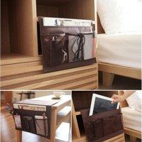 (Toponeto) Bedside Sofa Table Cabinet Storage Organizer Pocket Oxford Cloth Book Phone Bag