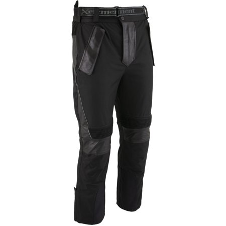 Xelement Xelement CF2131 'Road Racer' Men's Black Tri-Tex and Leather Motorcycle Racing Pants with X-Armor Protection Black 30 Cordura Motorcycle Pants