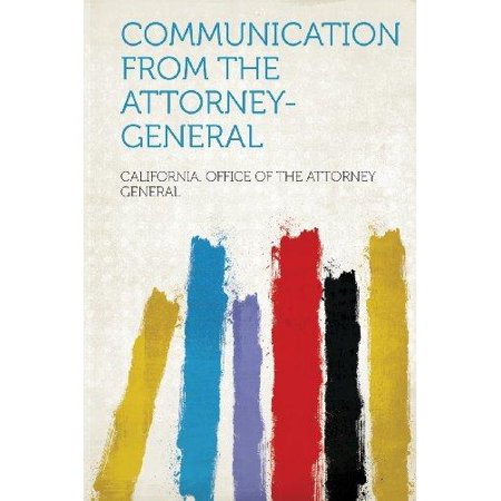 Communication From The Attorney General