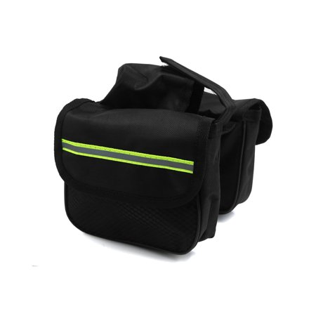 Traveller Pannier - Father  s Day Gift l Bike Reflective Stripe Rack Rear  Tail Carrier Pannier Bag Pouch Black