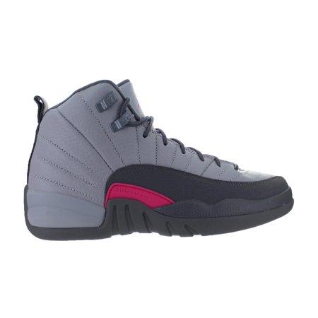 e8a721f6d52 Nike - Kids Air Jordan 12 XII Retro (GS) Wolf Grey - Vivid Pink - Cool Grey  - Walmart.com