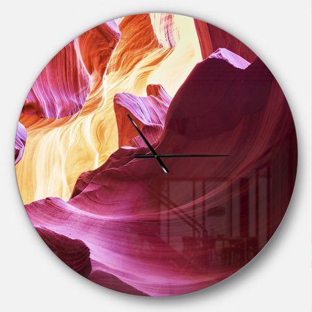 DesignArt Purple in Antelope Canyon Large Wall Clock - image 2 of 2
