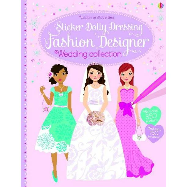 Sticker Dolly Dressing Fashion Designer Wedding Collection Walmart Com Walmart Com