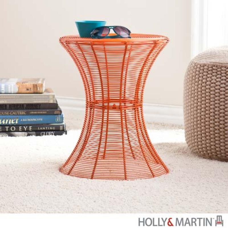 "Southern Enterprises Round Indoor-Outdoor 18.5"" Metal Accent Table"