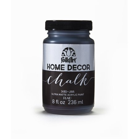 FolkArt Home Decor Chalk Java Brown Acrylic Paint, 8 Fl. (Chalk Paint Made With Plaster Of Paris)