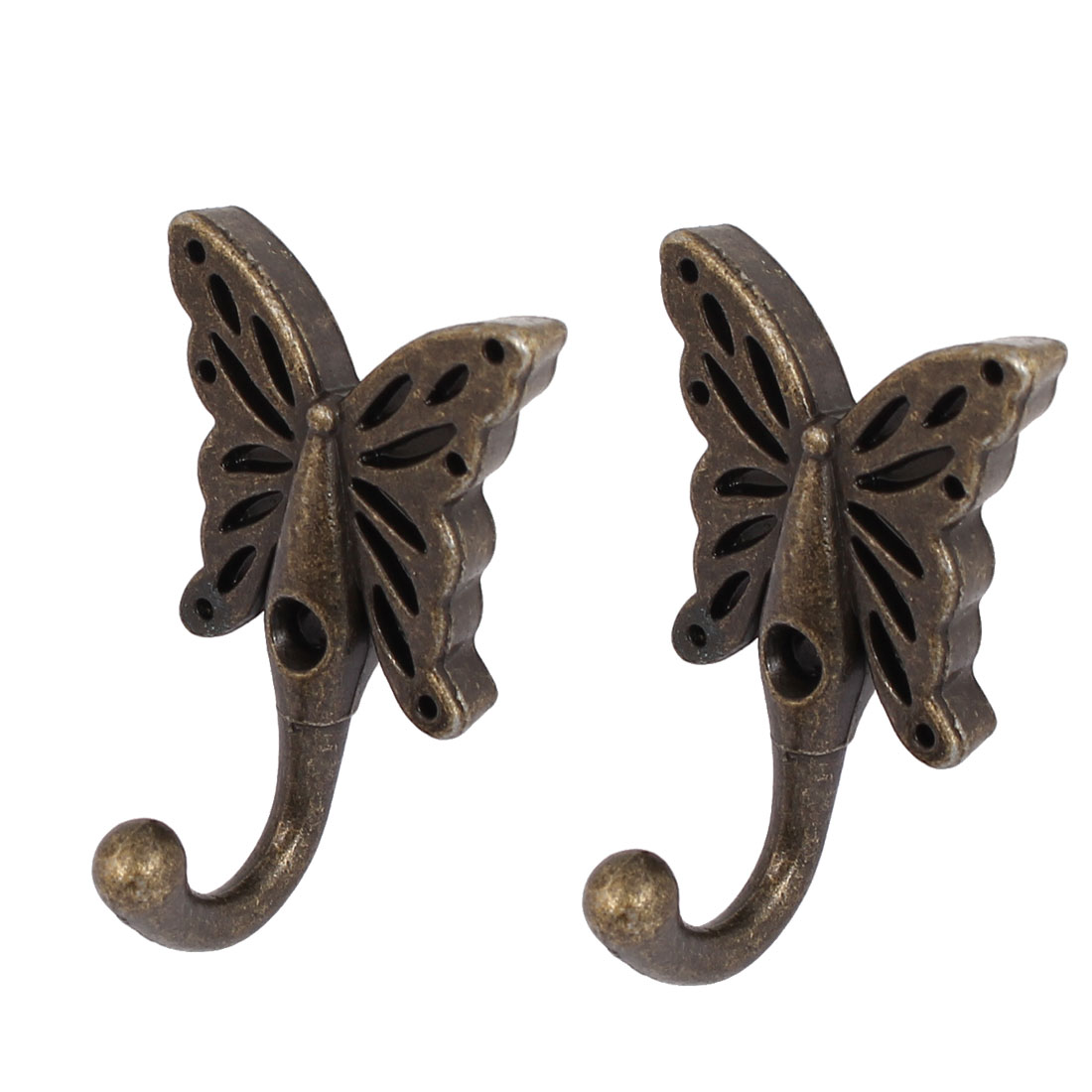 Robe Clothes Hat Butterfly Key Coat Hooks Wall Hanger 2pcs - image 3 of 3