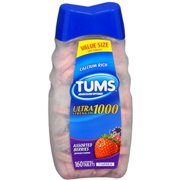 TUMS Ultra 1000 Tablets Assorted Berries 160 Tablets (Pack of 3)